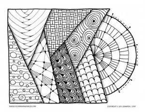 Geometric for Coloring pages bliss