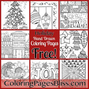 Download Holiday Coloring Pages