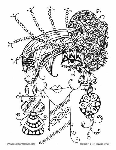 Icolor whimsical on pinterest flower collage coloring for Coloring pages bliss