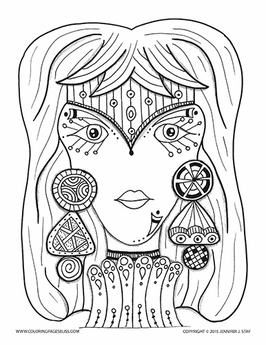 Bliss Babe Coloring Page