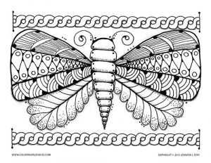 Butterfly Spring Coloring Page