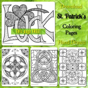 Download a free St. Patrick's coloring page.