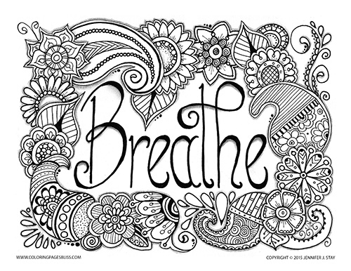 Free coloring pages for pain management for Stress relief coloring pages online