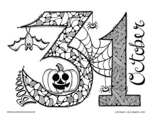 Download Halloween Page to Color