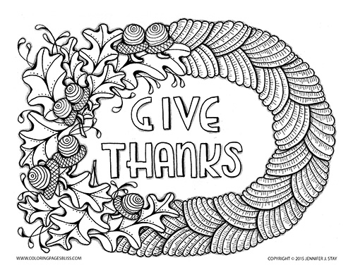 Promo Thanksgiving Coloring Page