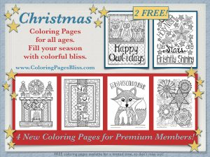 Christmas Coloring Pages for Grownups