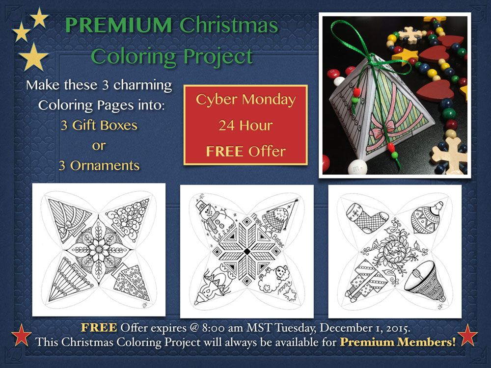 Download a Free Christmas Ornament Coloring Project