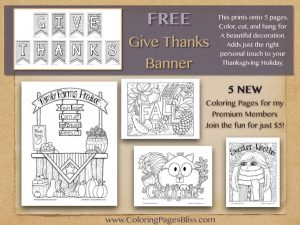 2016 Thanksgiving and Autumn Coloring Pages