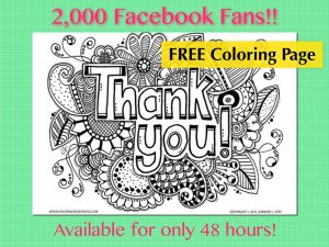 Free Thank You Coloring Page
