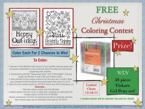Download and Color Free Christmas Coloring Pages to Enter Giveaway