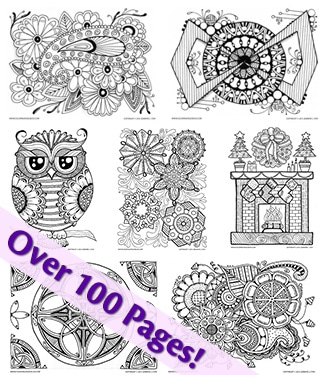 Downloadable Coloring Pages for Grown-Ups