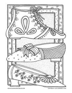Regency Era Shoes Coloring Page