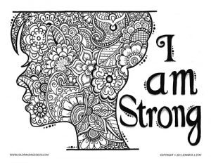 I Am Strong Coloring Page