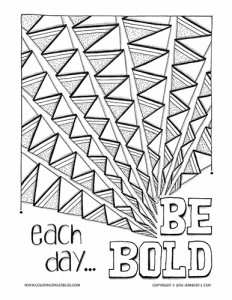 Bold Coloring Page
