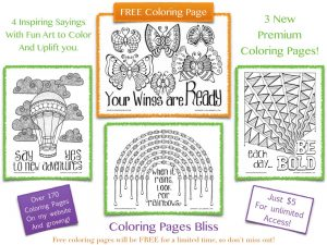 Uplifting and Inspirational Coloring Pages