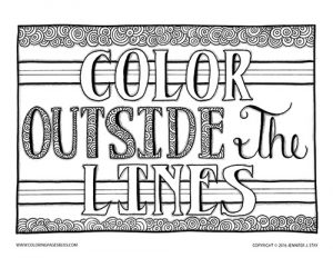 Color Outside the Lines Coloring Page