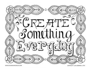 Create Something Everyday Coloring Page