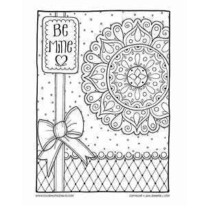 Be Mine Valentines Coloring Page