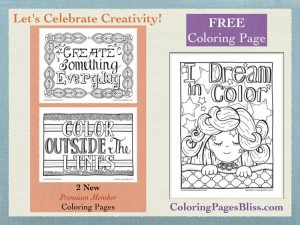Celebrate Creativity with these Coloring Pages