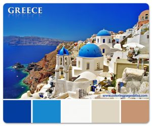 Santorini Greece Color Palette