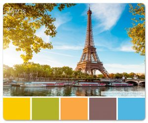 Color Palette Based on the Eiffel Tower in Paris France