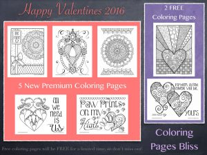 Download 2016 Valentines Coloring Pages