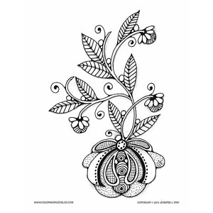 Free Flowering Bulb Coloring Page