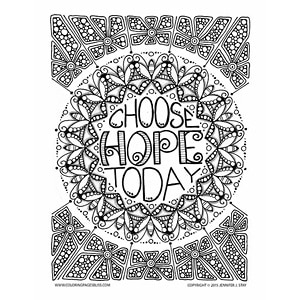 Free Hope Mandala Coloring Page