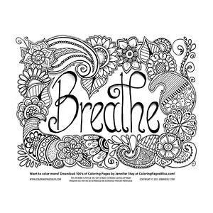 Breathe Flowers Coloring Page