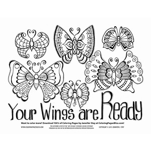 Inspirational Butterfly Coloring Page