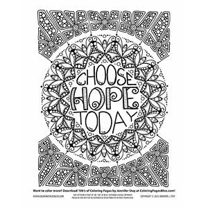 Inspirational Mandala Coloring Page