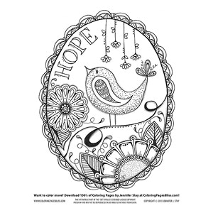 Inspirational Bird Coloring Page