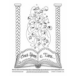 Gift of Bliss Coloring Page (016-EL-D009)