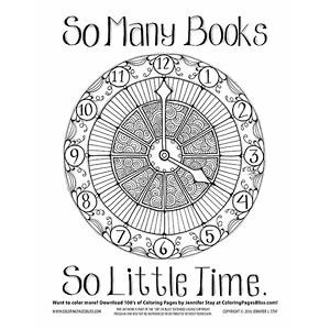 Wall Clock Mandala Coloring Page