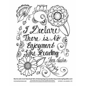Jane Austen Coloring Page