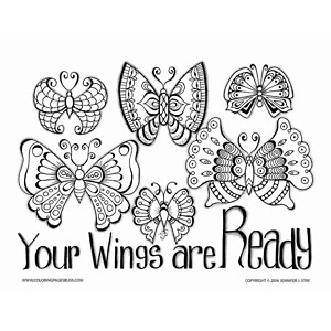 Inspirational Free Butterfly Coloring Page