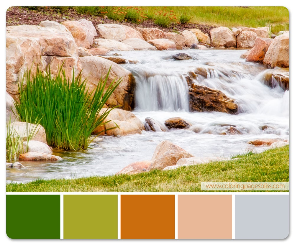 Daybreak Waterfall Color Palette