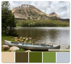 Mirror Lake with Canoe Color Palette