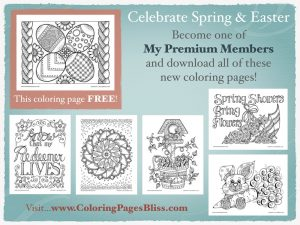 Spring and Easter Coloring Pages 2016