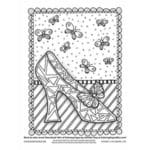 Gift of Bliss Coloring Page (016-EL-D014)