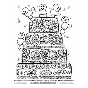 Frozen Snowmen Inspired Coloring Page