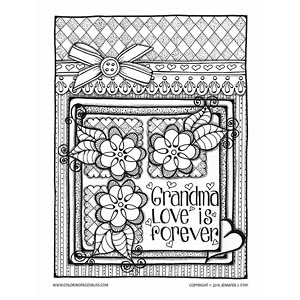 Mother's Day Coloring Page for Grandma