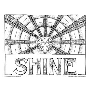 Shine Diamond Coloring Page