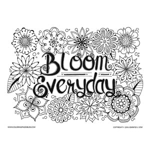 Bloom Everyday Flowers Coloring Page