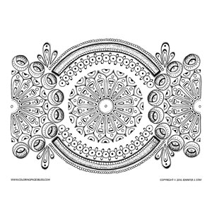 Spring Mandala Coloring Page for Grownups