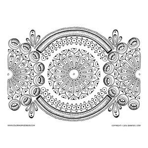 Spring Mandala Coloring Page for Grownups