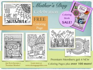 New Mother's Day Coloring Pages