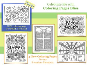 Celebration Themed Adult Coloring Pages