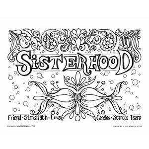 Sisterhood Coloring Page