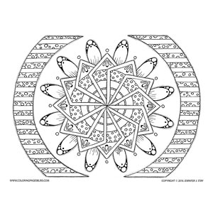 Geometric Mandala Coloring Sheet for Adults